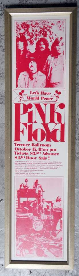 Poster for the Pink Floyd concert at the Terrace Ballroom that closed in 1981. Poster courtesy of Ken Sanders Rare Books.