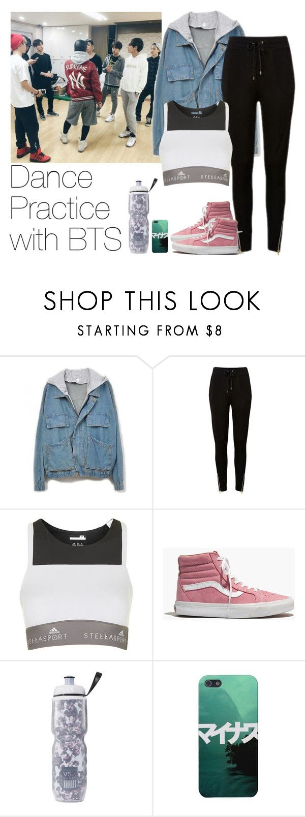 """""""Dance Practice with BTS"""" by yeolkkuma ❤ liked on Polyvore featuring adidas, Madewell and Victoria's Secret"""