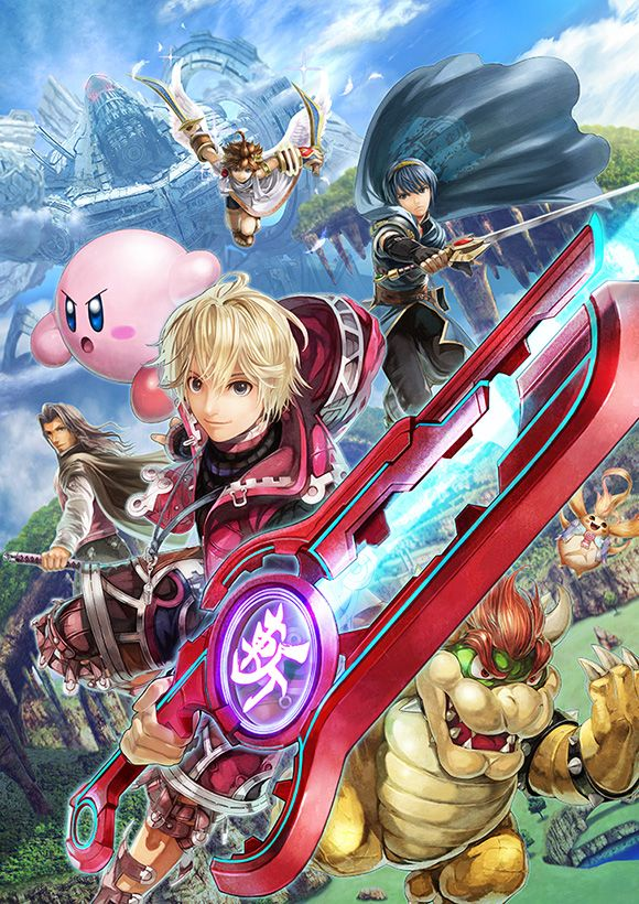 Promotional art for Shulk for Super Smash Bros. for Nintendo 3DS / Wii U.  I'm pinning for everyone BUT shulk