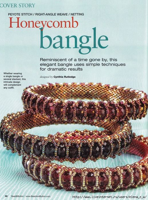 Honeycomb Bangle tutorial not sure i found this one but lots of other tutorials and pix if u can translate