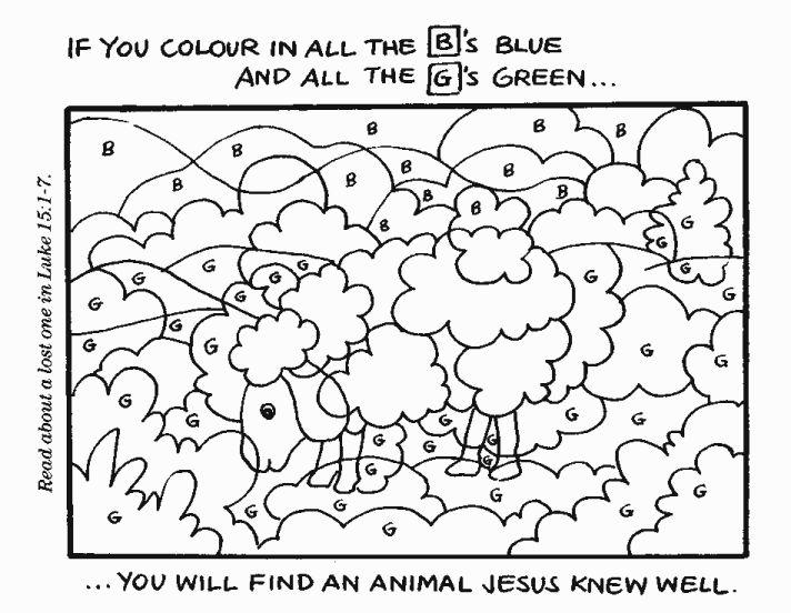 Coloriages bible wonderland levangelisation section - Brebis dessin ...