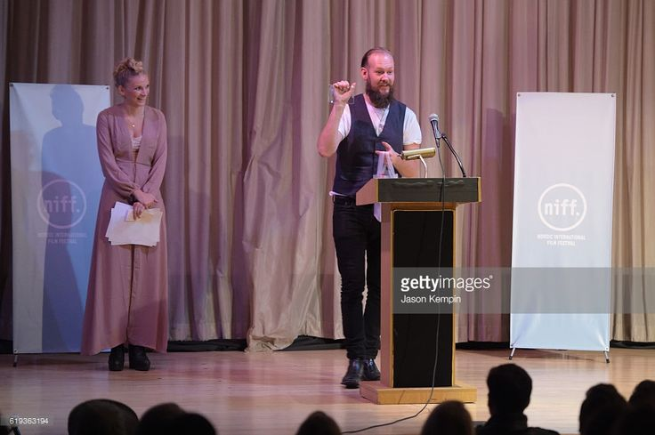 Actor Kenneth Berg speaks on stage at the Nordic International Film Festival Awards Ceremony at Scandinavia House on October 30, 2016 in New York City.