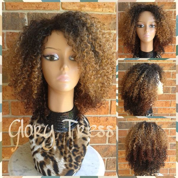 On Kinky Curly Wig Short Curly Half Wig Big Natural Afro Wig African... ($55) ❤ liked on Polyvore featuring beauty products, haircare, hair styling tools, bath & beauty, grey, hair care, wigs, styling iron, straight iron and flat iron
