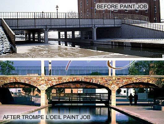 48 best images about tromp l 39 oeil on pinterest 3d for Bridge mural frederick md