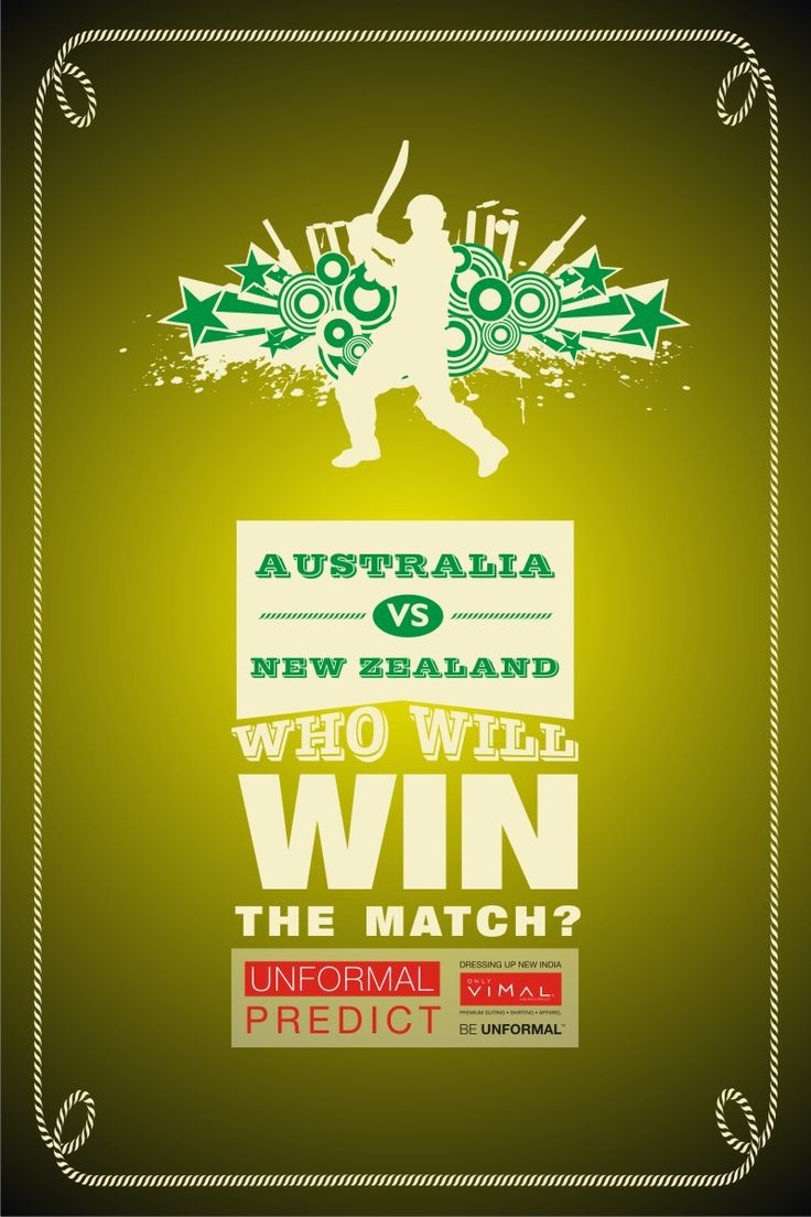 Tomorrow at #Melbourne, #NewZealand plays against #Australia. Predict & tell us which team will #win the match. #UnformalCricket2015 #contest