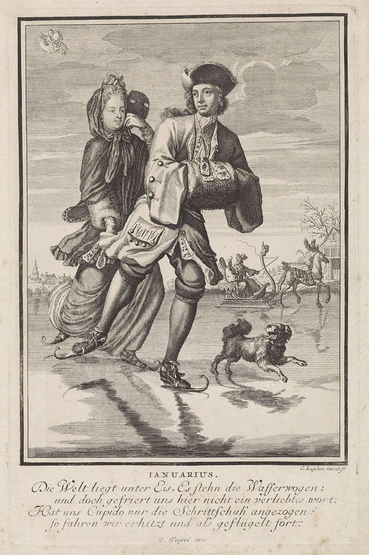 Januarius by Caspar Luyken, Anonymous, Christoph Weigel, 1698 - 1702