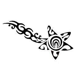 Tatuaggio di Cometa, Tribale tattoo - custom tattoo designs on TattooTribes.com