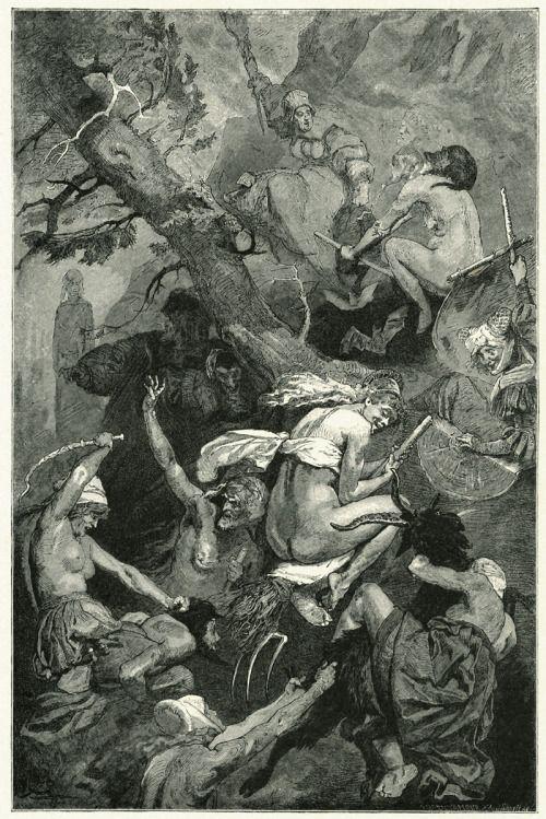 brudesworld:  Walpurgisnacht by Franz Xaver Simm, 1899