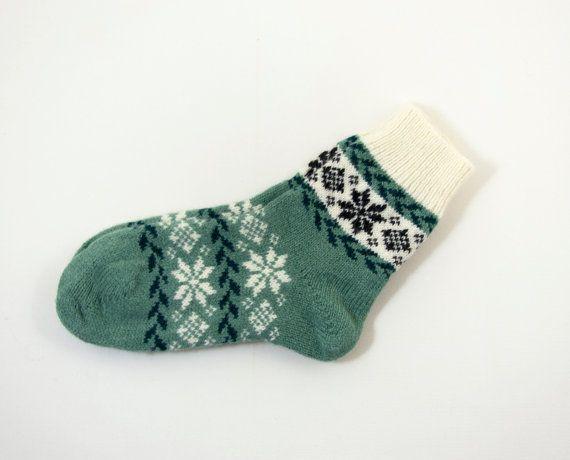 Lavorato a maglia calze di lana Folk di UnlimitedCraftworks