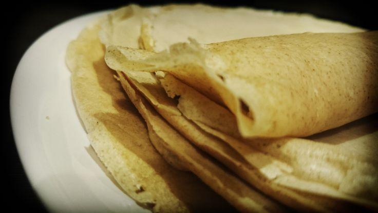 Wholemeal pancakes :) | Naleśniki razowe. Zdrowa wariacja na temat przepisu z książki kucharskiej Kuchnia Polska Stanisława Bergera ;)