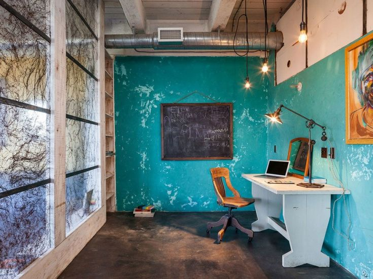 intense colorful eclectic industrial home design located in portland usa read more at www - Industrial Vintage Wohnhaus Loft Stil