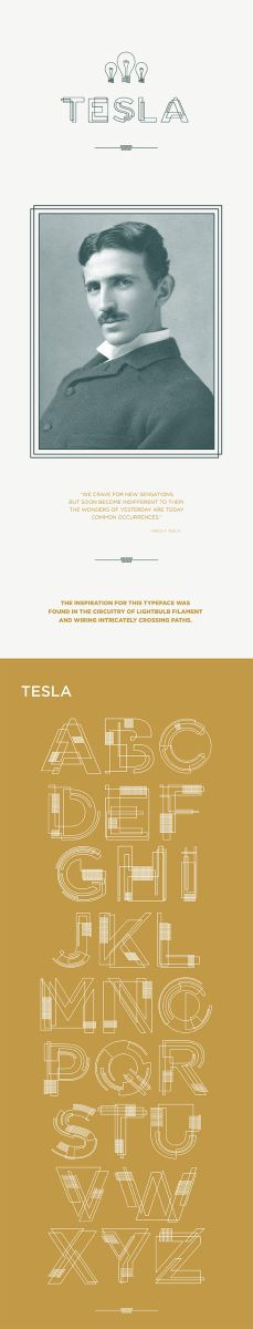 Cool Free Font: Tesla