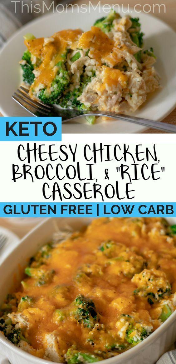 """Keto Chicken, Broccoli and """"Rice"""" Casserole"""