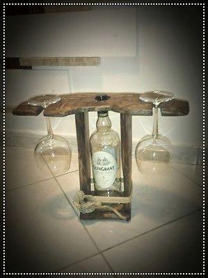 Cantinetta rustica portavino,portabottiglia e calici,WINE RACK,pallet wood,eco!