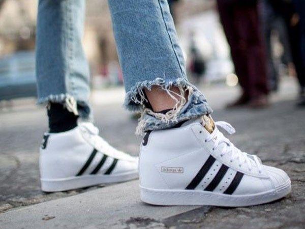 Zapatillas Adidas Blancas Y Plateadas