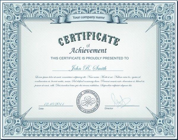 Шаблоны сертификатов и дипломов в векторном формате eps