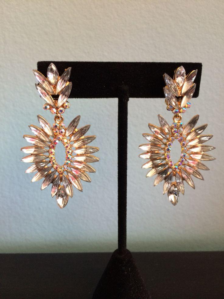 #earrings #bling #bridal