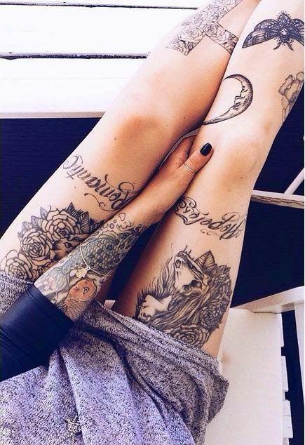 women leg tattoos ideas