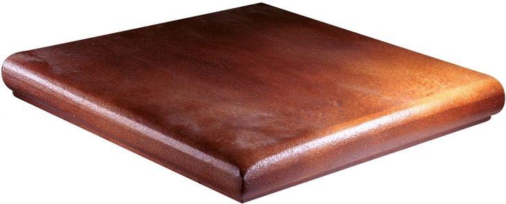 Przepiękna hiszpańska stopnica narożna - GRES ARAGON Teka stopnica narożna 33 x 33 cm - stopnice w dobrej cenie tylko na klinkier24.pl
