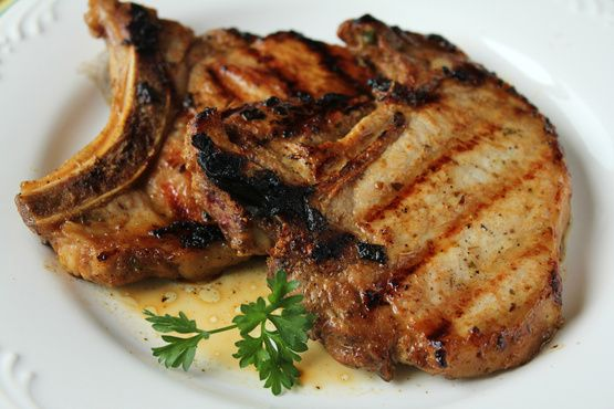 I was looking for a marinade recipe for pork chops and found one on cooks.com.  This is my variation of it.  It makes a very tender and tasty pork chop.
