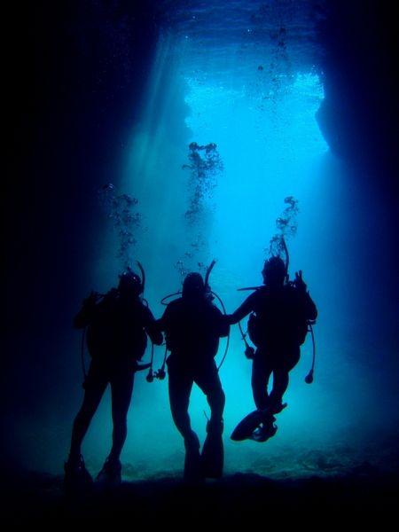 Blue Cave, Okinawa. I miss scuba diving!