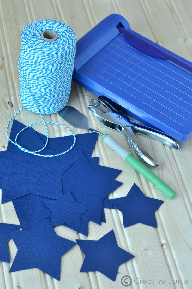 how to make a paper star garland