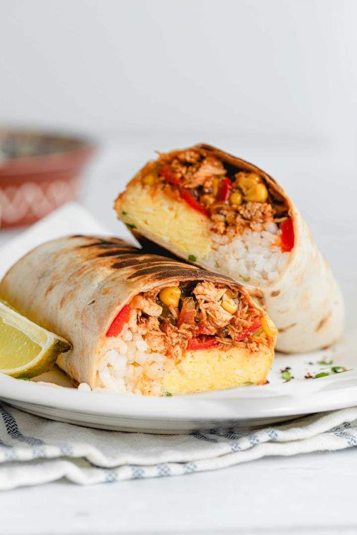 Shredded Chicken Burrito Recipe In 2021 Burritos Chicken Burritos Chicken Recipes