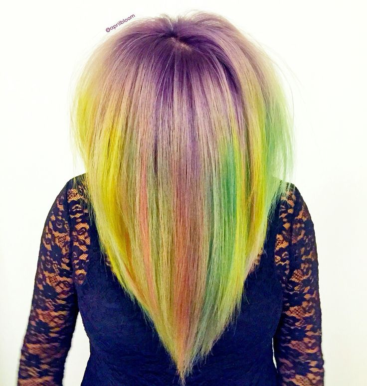 Rainbow Hair done with Pavana Vivids and pastels