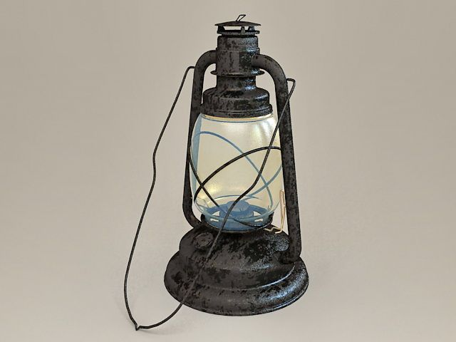 Antique Kerosene Lantern 3d Model 3ds Max Files Free Download Modeling 36288 On Cadnav Antique Oil Lamps Oil Lamps Kerosene
