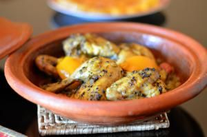 Moroccan Chicken Tagine with Nigella Seeds (Black Seeds or Sanouj)