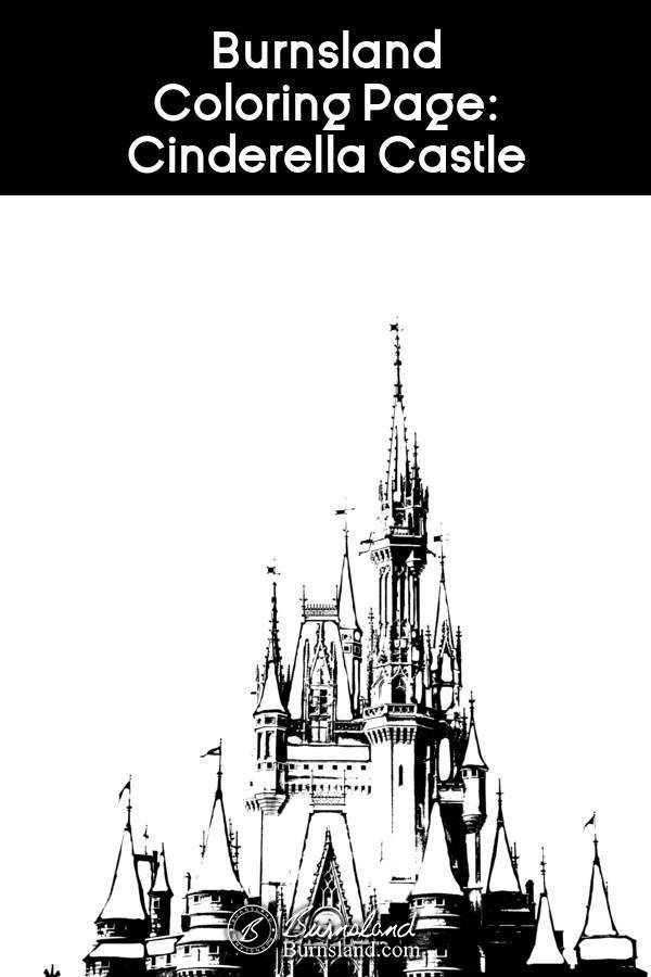Burnsland Coloring Page Cinderella Castle Burnsland Photography And Art Cinderella Castle Castle Coloring Page Coloring Pages