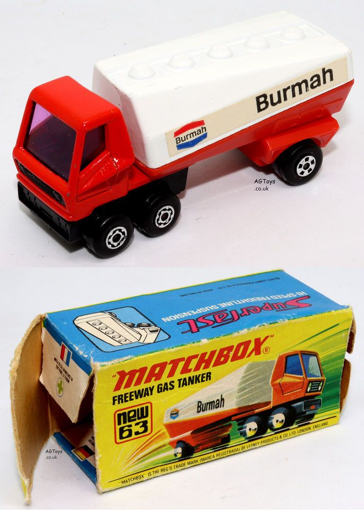 Ad Matchbox Superfast No.63 Freeway Gas Tanker 1973