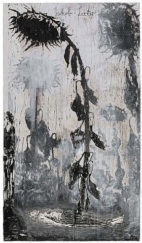 anselm keifer, Die vier Elemente, painted woodcut at Thaddeus Ropac. I don't know why I like this.