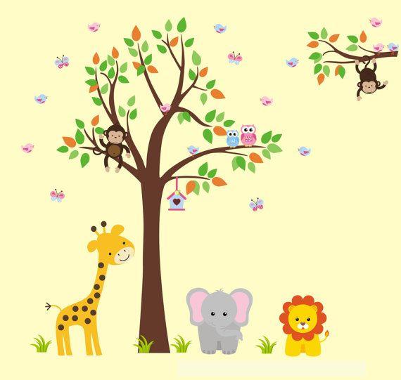 242 best Safari Nursery Decals images on Pinterest | Nursery ...
