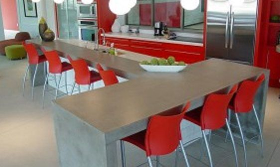 Sports Themed Kitchen All Made From Precast Concrete / Concrete Countertops,  Hard Topix.