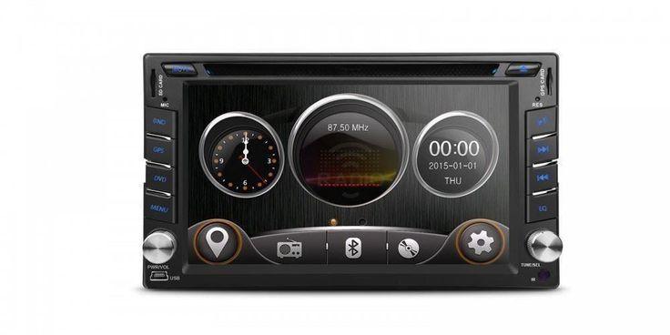 """Annons på Tradera: 6.2"""" HD Digital Pekskärm bilstereo, DVD, GPS - Nissan"""