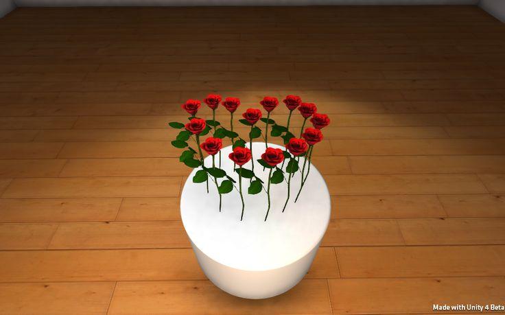 Wirtualny bukiet 3D na Walentynki www.florysta3d.pl