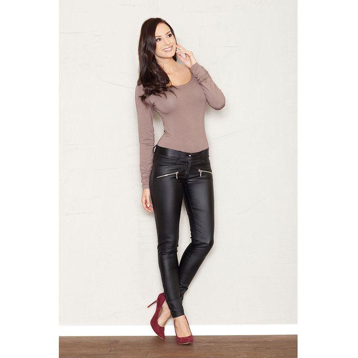 Štýlové čierne dámske nohavice