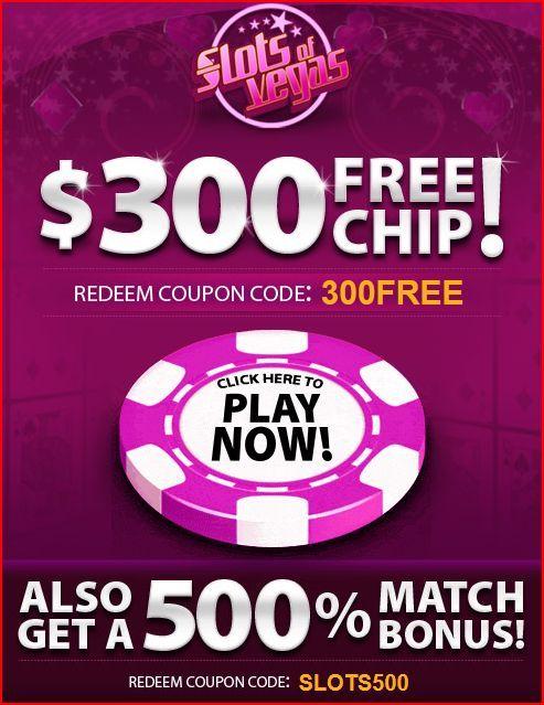 $300 Free Chip at Slots Of Vegas Casino Online | No Deposit