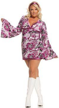 Plus Size Vintage Vixen Disco Costume - Hippie and Disco Costumes