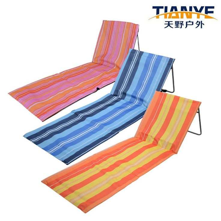Portable Folding Adjustable Beach Mat Lounger Camping