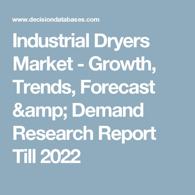 Industrial Dryers Market - Growth, Trends, Forecast & Demand Research Report Till 2022