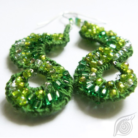 earrings Dew in grass; nycrame; by Nady