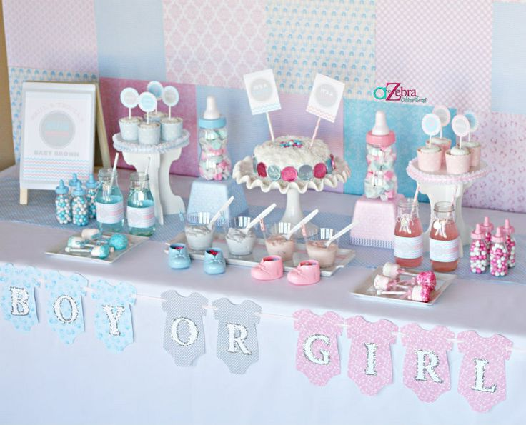 Cute gender reveal decorations