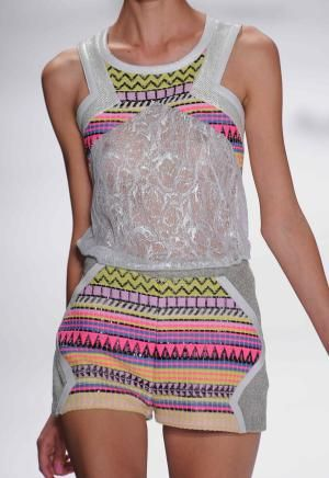 Neon embroidery: juniors' emerging trend