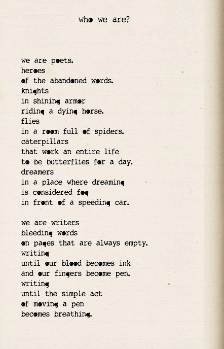 """""""We are poets. Heroes of the abandoned words"""" - Andrea Gibson (WOW)"""