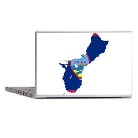 Guam Flag and Map Laptop Skins on CafePress.com
