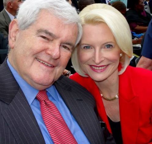 Newt Gingrich with wife, Callista
