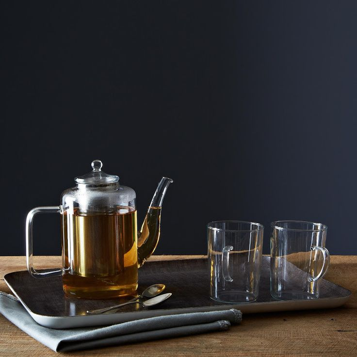 Glass Teapot with Iron Filter