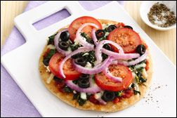 ... Greek Pizza, Purple Pizza Eaters and Breakfast Scramble Pizza Pie